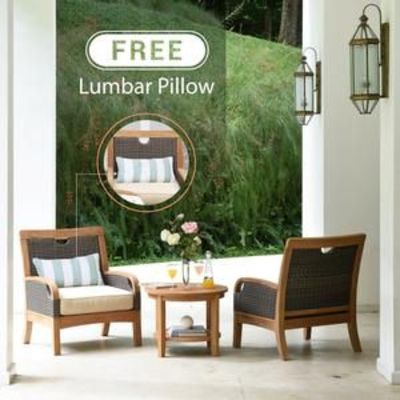 Bring home today our outdoor teak furniture from the Palma range, including this Palma Solid Teak Wood 3 Piece Patio Conversation Set with Taupe Cushion, from the experts at Cambridge Casual!