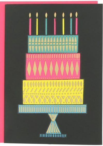 Birthday Card Offset Foil Paperchase Papercraft Juxtapost