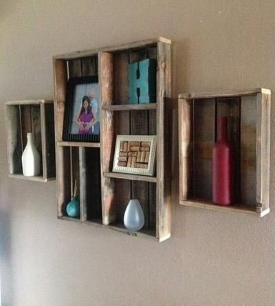Reclaimed+Wood+Wall+Shelf+and+Shadow+Box+-+Set+of+3+by+Del+Hutson+on+Scoutmob+Shoppe