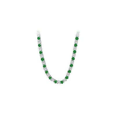 14K White Gold Emerald & Diamond Eternity Necklace 16.00 CT TGW for just $29236.05. @thelavenderlilac
