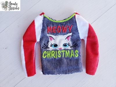 Elf Meowy Christmas Raglan Shirt