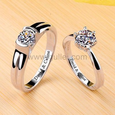 1.6 Ct Diamond Engagement Personalized Rings Platinum Plated Silver https://www.gullei.com/1-6-ct-diamond-engagement-rings-platinum-plated-silver-engravable.html