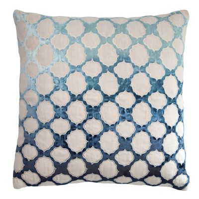 Twilight Fretwork Velvet Appliqué Pillow by Kevin O'Brien Studio $293.00