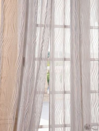 Piera Taupe Gray Patterned Sheer Curtains And Drapes Sheer Curtains Juxtapost