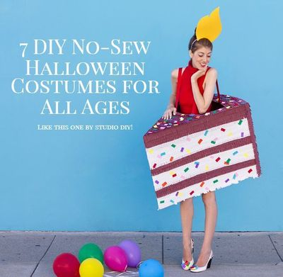 Go big for Halloween this year without a lot of fuss with these DIY no-sew Halloween costumes! There are ideas, tutorials, & projects for the whole family!