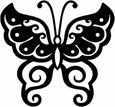 Butterfly Template Ornaments Wall Decor Free Dxf File Just