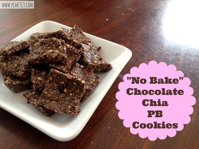 """No Bake"" Chocolate Chia PB Cookies : peak313.com"