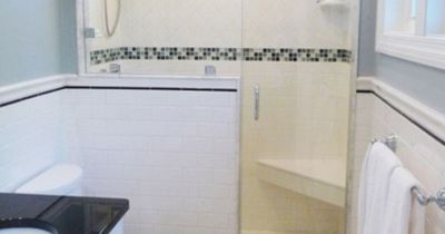 Like the shower... Nice seat/foot rest for shaving your legs. The half wall is a nice alternative instead of all glass.