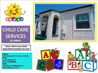 For HEALTH SAFETY and CPR CERTIFIED Child Care Services call: Local: (510)2557227 Other: (510)6809882. To know more about us click on link below:  https://www.sunnyday-care.com/