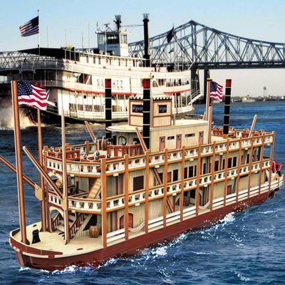 3D Puzzle Ship Models Toys,Building Kits,Mississippi Steamboat $65.80