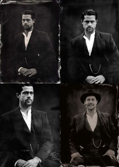 Brad Pitt ambrotype by Stephen Berkman for The Assassination of Jesse James by the Coward Robert Ford.