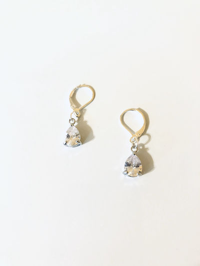 Drop cubic zirconia earrings, women's jewelry, women's gift $26.00