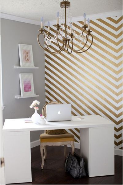 that wall! MadeByGirl: Shay's Leap of Faith + Home Office