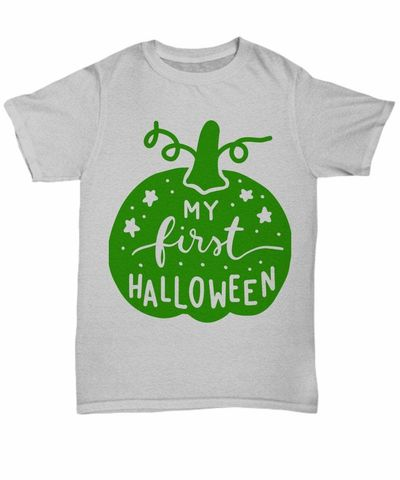 My first halloween halloween dark unisex t-shirt $20.95