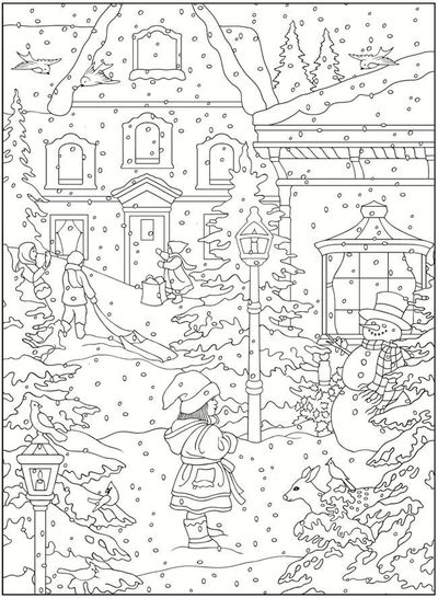 welcome to dover publications creative haven winter scenes coloring book - Creative Haven Coloring Books