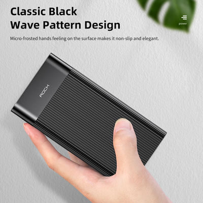 ROCK 18W PD 20000mAh Digital Display Fast Charging Power Bank For iPhone XS 11 Pro Huawei P30 Pro Mate 30 5G Xiaomi Redmi K30