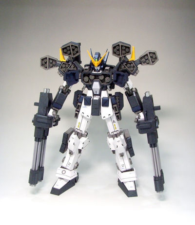 Exclusive! Gundam Heavyarms Custom, Gundam Wing, Gundam Mobile Suit, Heavy arms, papercraft, robot, DIY, Pdf, Ornament, papermodel, anime, $15.56