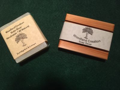 2 Bars Of Citrus Cedar Sage Soap Bar Plus Cedar Soap Saver | Homemade Soap $9.95