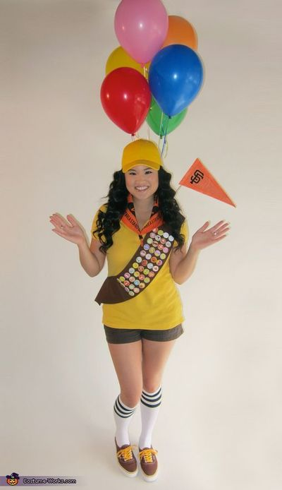 Stephanie: I wanted to be Russell from UP! for Halloween :) And once the SF Giants won the World Series, I decided to be World Champion Russell :) I purchased t
