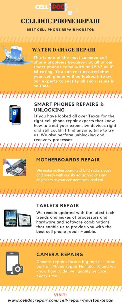 Cell Doc Phone Repair is trusted phone repair brand who provide you best phone repair services at low cost. Cell Doc also provide 1 year repair warranty to their clients, if you face any problem after repairing your phone, then cell phone will help you. I...