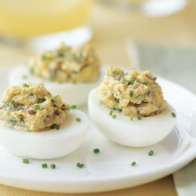 Deviled Eggs with Lemon Zest, Chives and Capers / food ...