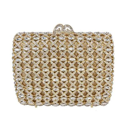 Women Luxury Diamond Evening Clutch Bag / Hollow Out