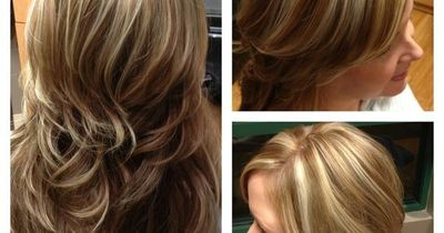 White blonde chunky highlights with light brown hair hair tips white blonde chunky highlights with light brown hair pmusecretfo Gallery