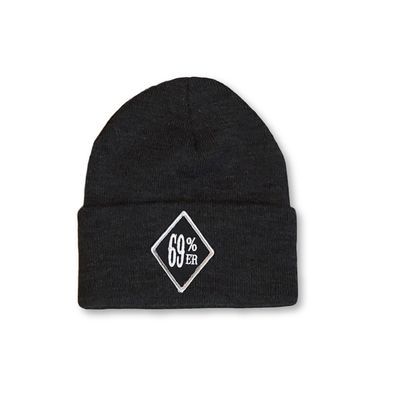 "THIGHBRUSH® BIKERS ""69 PERCENTER"" Cuffed Beanies - Diamond Patch on Front - Charcoal Grey $17.76"