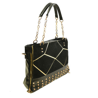 Substantial Zipper Vintage Fashion Splicing River Chain Crossbody Bag Tote