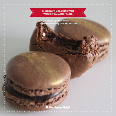 CHOCOLATE MACAROONS WITH WHISKEY GANACHE FILLING / Delicious Recipe ...