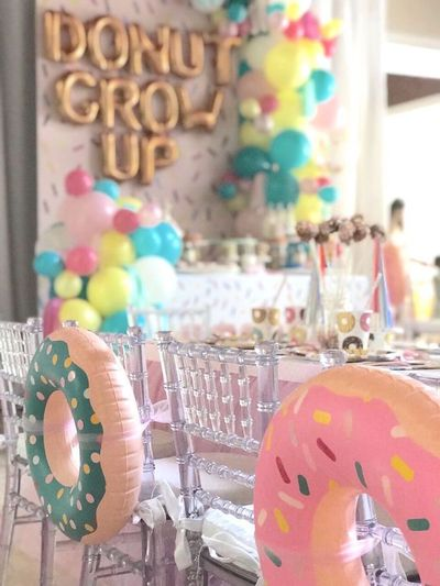 """Savory sweets, sprinkles and tassels, this """"Donut"""" Grow Up 1st Birthday Party is fantastical! See it at Kara's Party Ideas today!"""