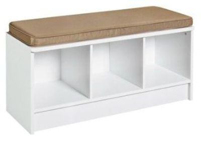 Amazon.com: Closetmaid 3 Cube Bench White Storage Bench: Furniture & Decor