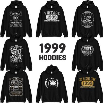 1999 Birthday Gift, Vintage Born in 1999, 21st Birthday Hooded Sweatshirt for her Him, Made in 1999 Hoodies for men women 21 year old $23.99