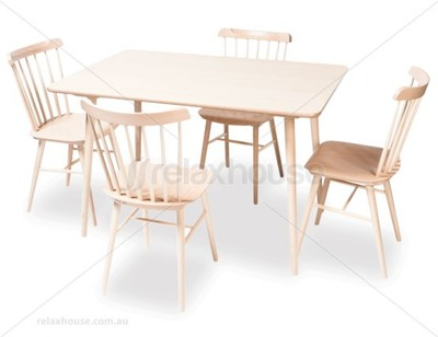 Ironica dining table set a simple yet sleek design this for Sleek dining table designs