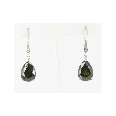 Helens Heart Earrings JE-E130-S-Olivine-Green Helen's Heart Earrings - Rich Your Wedding Day