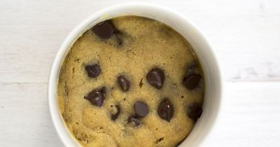 A perfect peanut butter and chocolate chip cookie in less than 5 minutes! This is a perfect single serve cookie that is made in the microwave! From chefsavvy.co