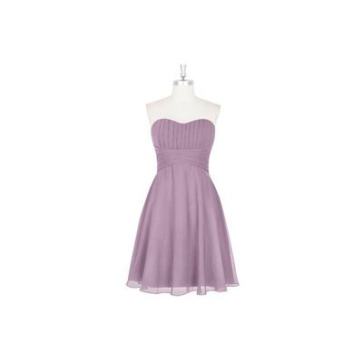 Wisteria Azazie Aryana - Chiffon Knee Length Sweetheart Back Zip Dress - Charming Bridesmaids Store