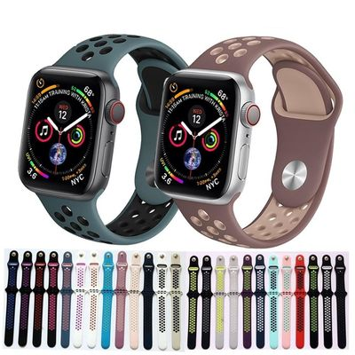 Silicone strap for Apple watch bands 4 42mm 44mm 38mm 40mm iwatch 4/3/2/1 Nike $22.99
