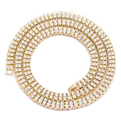 """MEN'S 2 ROW ICED OUT GOLD PLATED PHARAOH 30"""" 8MM HIP HOP BLING CHAIN NECKLACE  Special Features: Iced Out 2-row Dimensions: Length : 30 inches, Width : 8mm"""