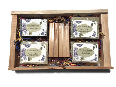 Natural Soap Gift Set with Soap Saver Great Christmas, Housewarming Or Teacher's Gift $15.95