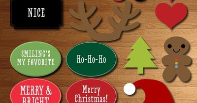 photo relating to Free Printable Christmas Photo Booth Props known as Xmas Photograph Booth Props - Absolutely free Printable / xmas