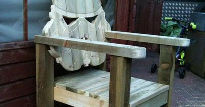 Stormtrooper Head Wood Lawn Chair