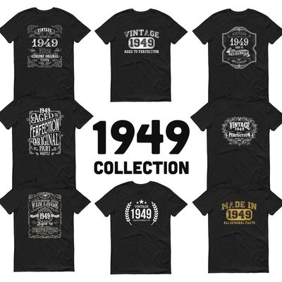 1949 Birthday Gift, Vintage Born in 1949 t-shirt for men, 71st Birthday, Made in 1949 T-shirt, 71 Year Old Birthday Shirt - 1949 Collection $19.99