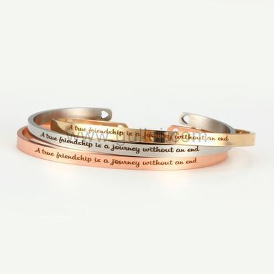 Gullei.com Personalized BFF Cuff Bracelet Gift for Girls