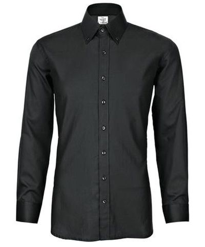 Black Satin Full Sleeves Button Down Shirt �'�1599.00