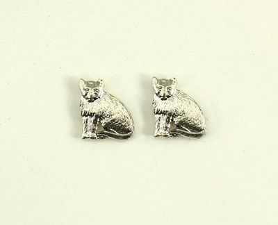 Tiny Cat Magnetic Earrings in Gold or Silver $20.00 Designed by LauraWilson.com