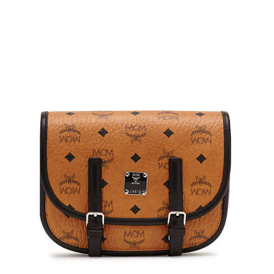 MCM Small Color Visetos Flap Messenger In Brown