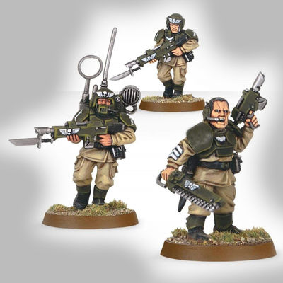 Infantry Squad Shock Troops Plastic Models Guardsmen $59.60