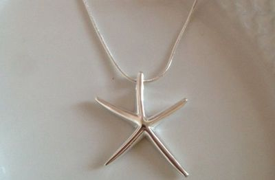 Designer Inspired Silver Starfish Necklace 58% off at Groopdealz