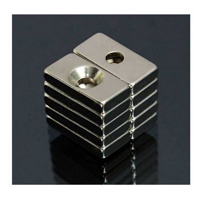 50 pcs 20 x 10 x 4 mm Strong Magnets 4 mm Hole Rare Earth Neodymium Magnet $11.20